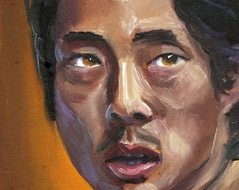 Glenn | Archival Print Portrait of Steven Yeun from Walking Dead by Jess Kristen