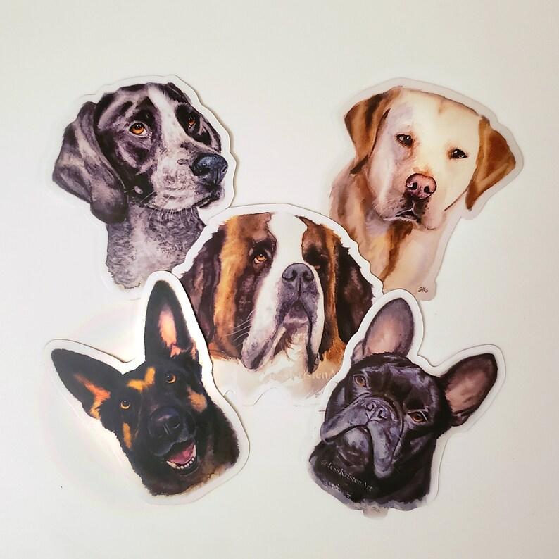Dog Vinyl Sticker Cute Stickers Laptop Stickers Dog image 0