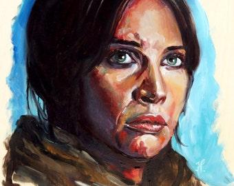 Jyn Erso | Oil Painting Portrait Felicity Jones Rogue One Star Wars Fan Art