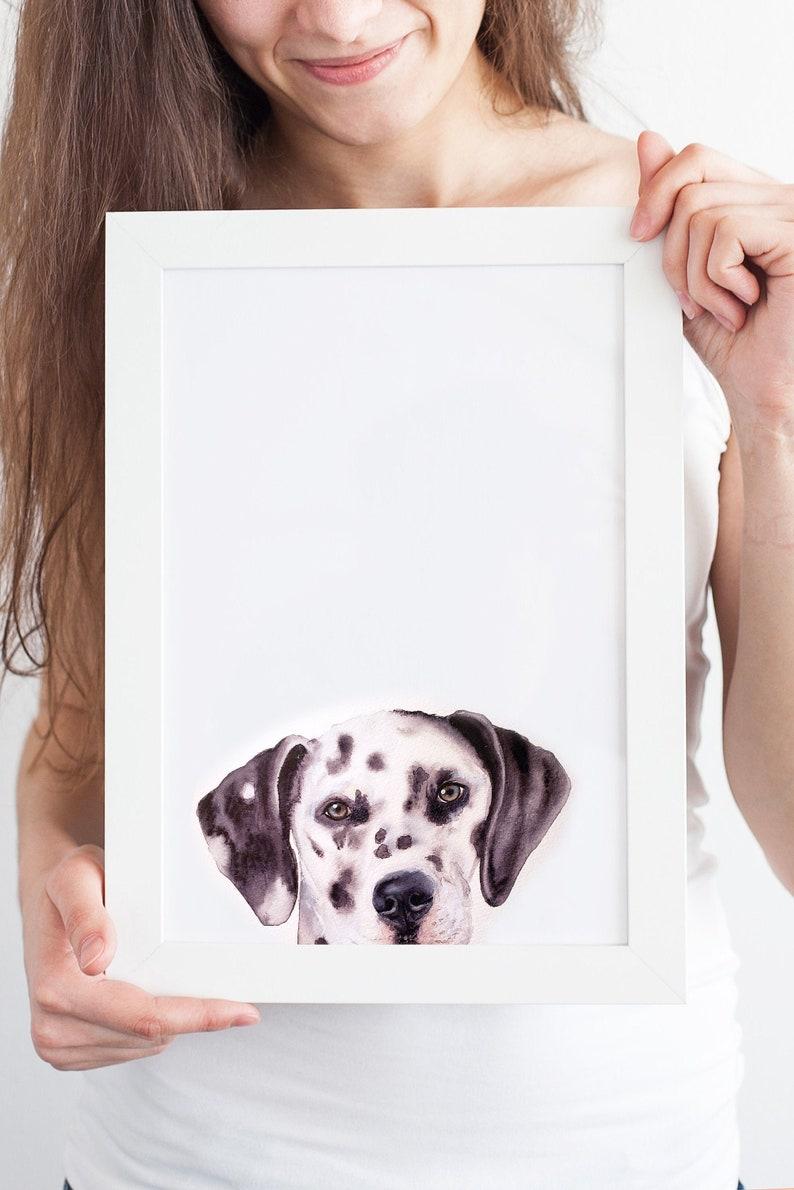 Dog Portrait PEEKABOO Custom Dog Painting Pet Portrait Custom image 0