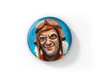 """Doctor Emmett Brown Time Bandit by Jess Kristen Button Pins or Magnets 1"""""""