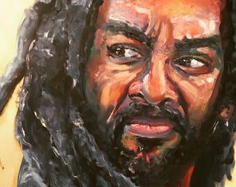 King Ezekial | Archival Print Portrait of Khary Payton from Walking Dead by Jess Kristen