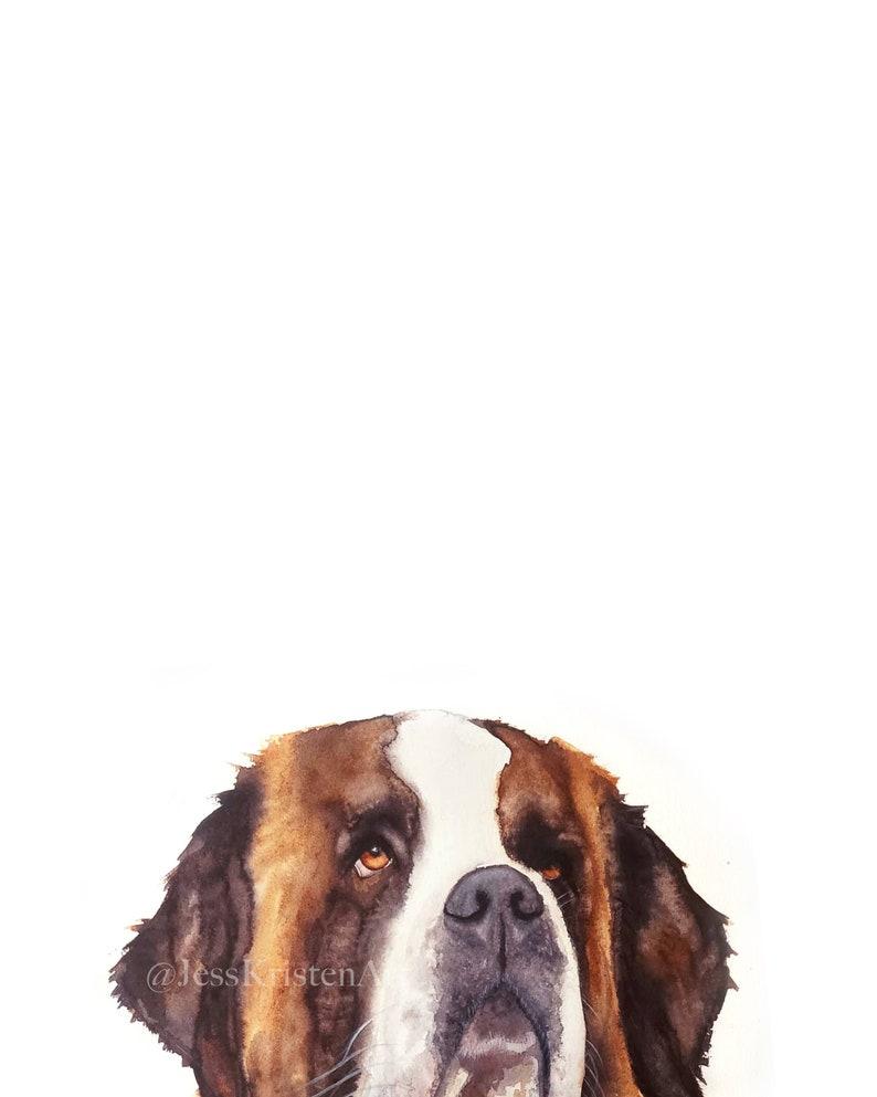 Custom PEAKABOO St Bernard Pet Portrait Dog Portrait Pet image 0