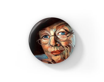 """Individual Fan Art Minerva McGonagall Maggie Smith Harry Potter by Jess Kristen Button Pins or Magnets 1"""""""