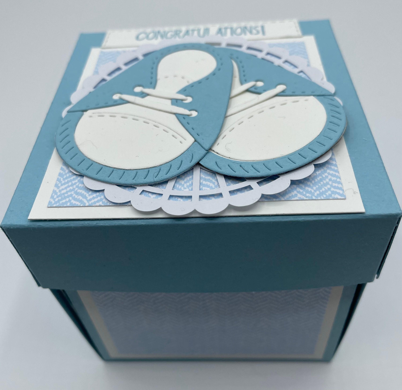 Handmade It\u2019s a Boy Pop up box baby greeting card