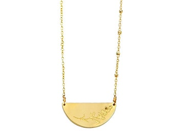 Gold Mustard Seed Necklace