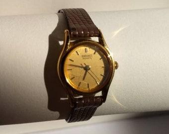 88af71e7514 Rare Vintage Seiko Gold Tone Women s Watch