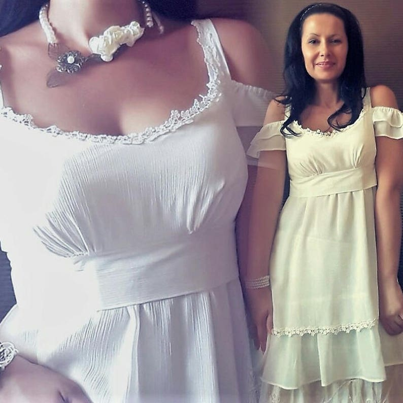 2375443eae5cb6 Off Shoulder Tunic or Dress Layered Tunic/Dress Romantic | Etsy