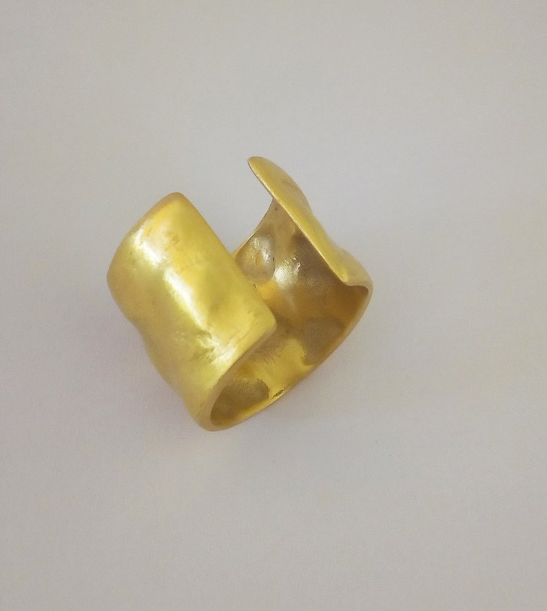 Lava Bubbles ring-An adjustable Handmade Gold plated Brass or a 925 sterling Silver ring