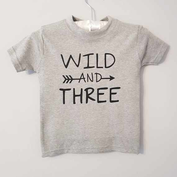 Wild And Three 3rd Birthday T Shirt 3 Years Old Toddler