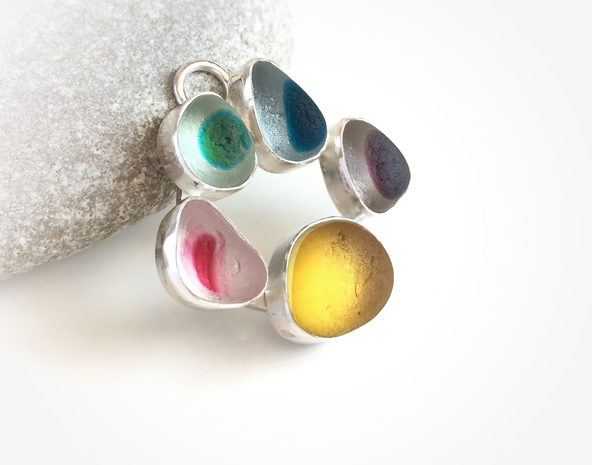 150c39c87 Seaham multi seaglass 'Crossing the Rainbow Bridge' | Etsy
