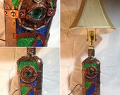 24 quot Steampunk Eye and Stained Glass Lamp
