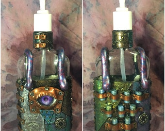 "4"" Steampunk Soap/Lotion Dispenser"