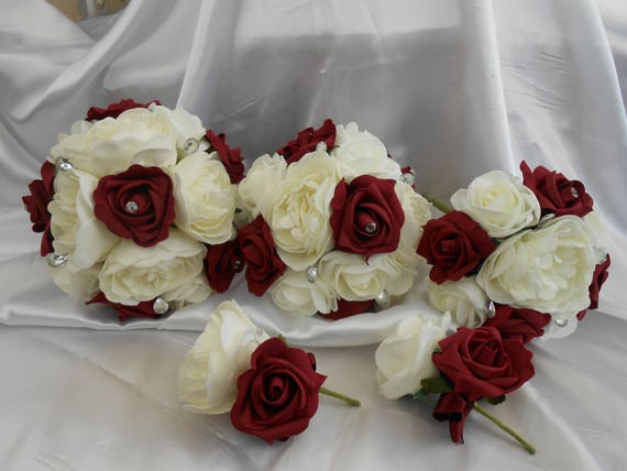 pink red Dried Rose Buds multiple colours ivory burgundy