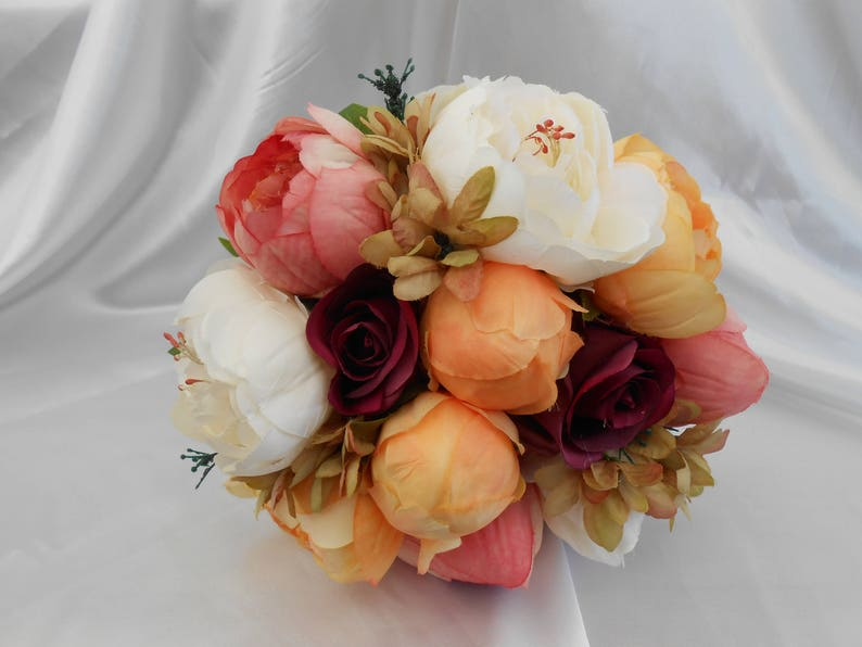 Bouquet Sposa Rose E Peonie.Autumn Winter Bouquet Peony Bouquet Brides Bouquet Bridal Etsy