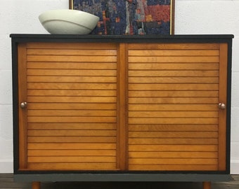 Vintage MCM Record Cabinet