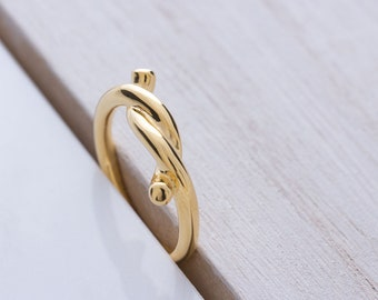 Zhora Ring-Sterling silver 925, gold, knot, knots