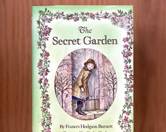 SIGNED The Secret Garden by Frances Hodgson Burnett; illustrated and autographed by Tasha Tudor; beautiful and classic children's story book