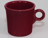 Fiesta Tom Jerry Mug Homer Laughlin Co. Red Maroon Ceramic Mint Contemporary
