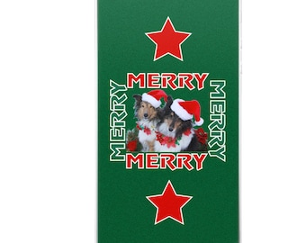 Santa Shelties Merry Merry Christmas Holiday iPhone Case
