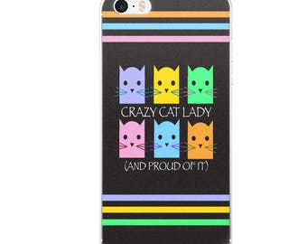 Crazy Cat Lady Bright Colors iPhone Case