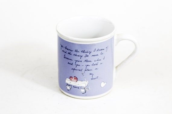 Flavia Weedn Cup Mug by Papel, A Place In My Heart, Lavender, Vintage, Mint