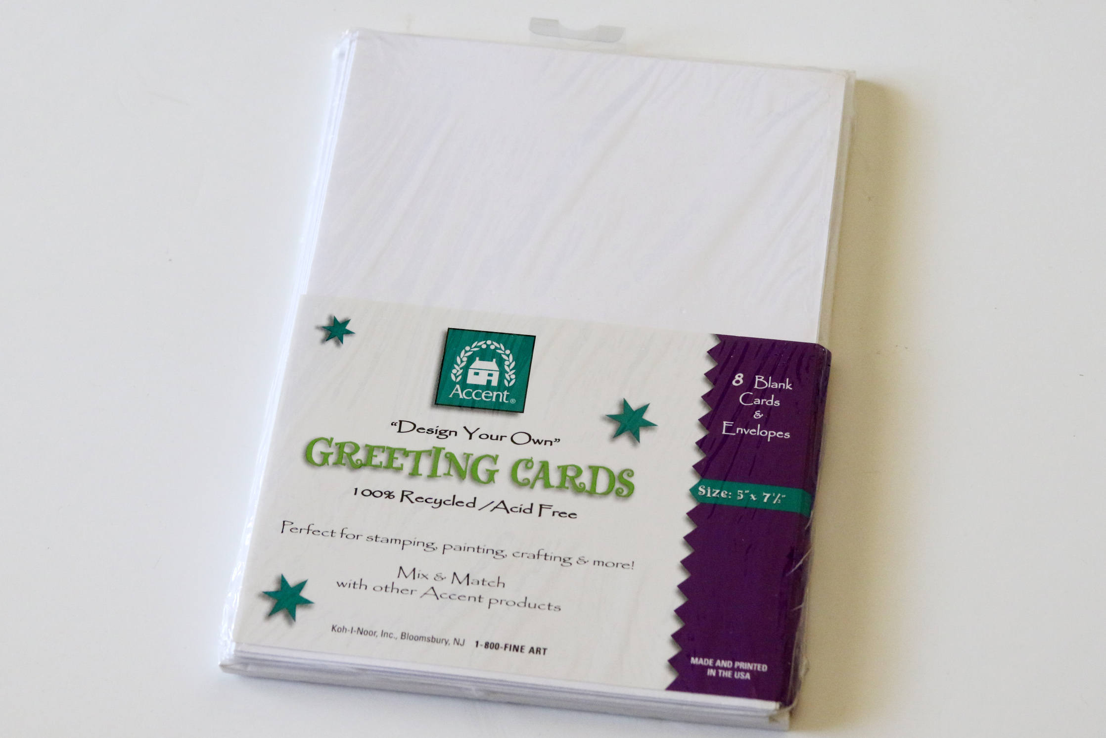 Accent Design Your Own Greeting Cards Pack Of 8 Blank Cards