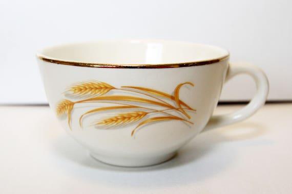 """Homer Laughlin Golden Wheat 6/"""" Saucer 22k Gold"""
