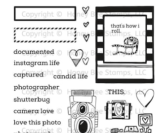 "Honey Bee ""Camera Love"" Stamp Set"