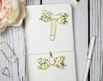 Lemon Planner Clip & Charm - Bookmark - Planner Accessories