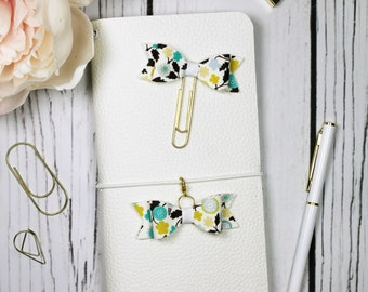 Fall Floral Planner Clip & Charm - Bookmark - Planner Accessories