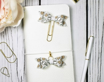 Milk and Cookies Planner Clip & Charm - Bookmark - Planner Accessories