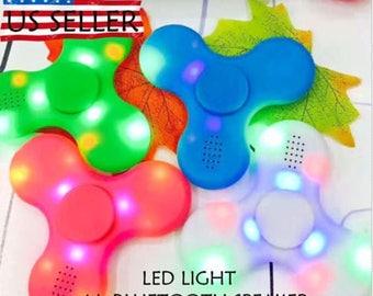 Fidget Hand Spinner with LED LIGHT & Bluetooth Speaker