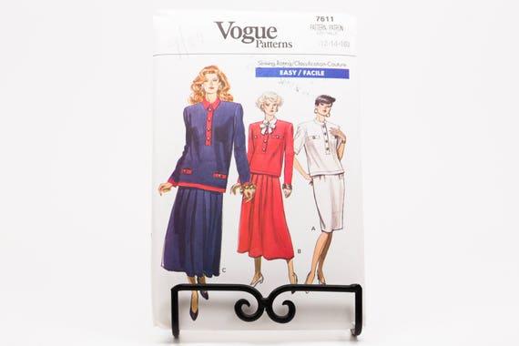 Vintage Vogue Karriere Anzugrock Hemd Pullover Nähen Muster | Etsy