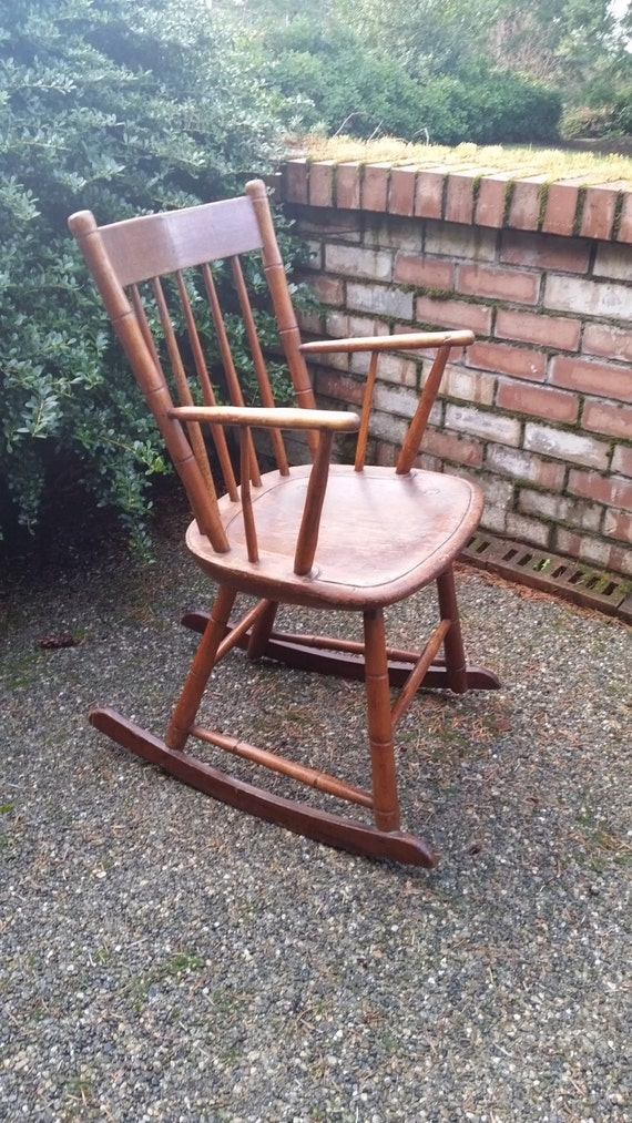 image 0 - Antique Rocking Chair Antique American Windsor Rocking Etsy