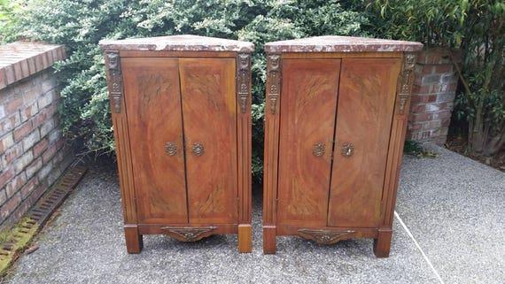 image 0 - Pair Antique Corner Cupboards Pair Antique French Louis XVI Etsy