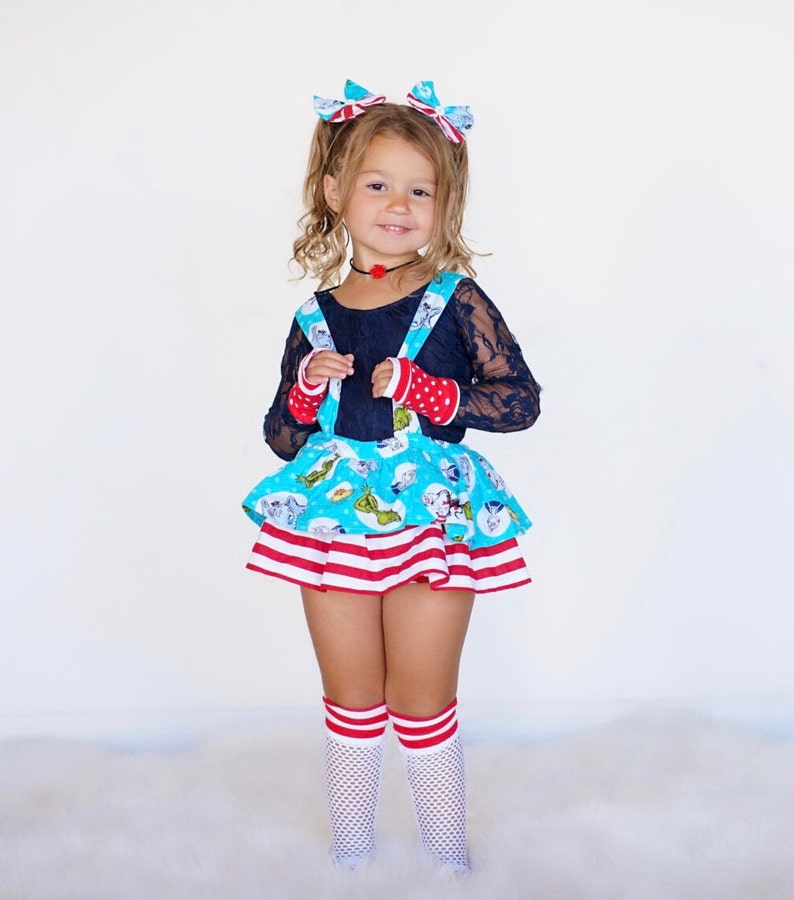 Dr 1st Birthday 2 Piece Set Matching Headband Toddler Romper Baby Romper Disney Toddler Baby Girl Clothes Seuss Birthday Outfit