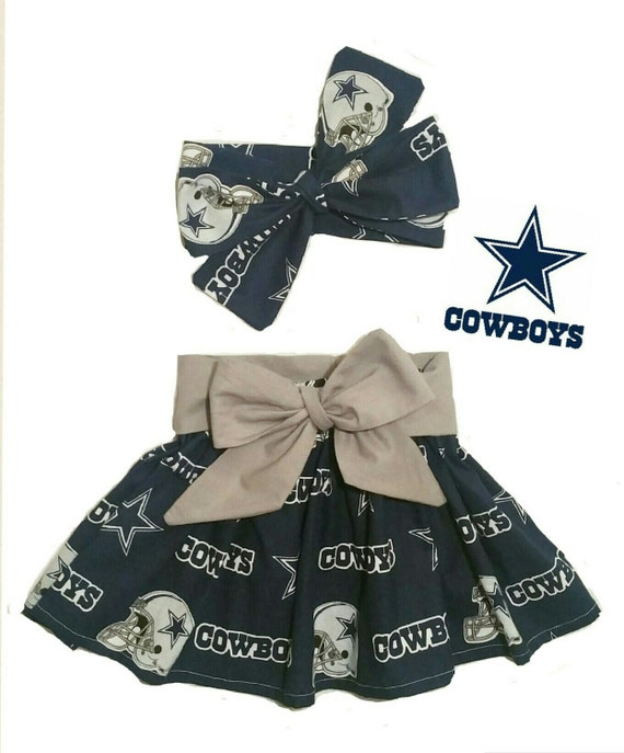 2 Piece Set Dallas Cowboys Dallas Cowboys Inspired Skirt  ef18edaa6