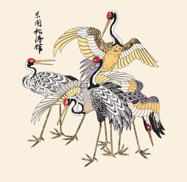 Japanese Crane T-Shirt image 0