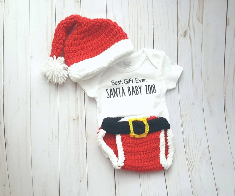 1469b04f7 Baby Christmas Santa Suit Outfit Costume Best Gift Ever Santa | Etsy