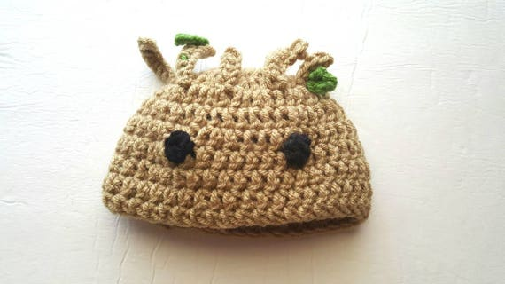 Baby Groot Hut Hut Häkeln Groot Groot Hut Baby Baum Ersten Etsy
