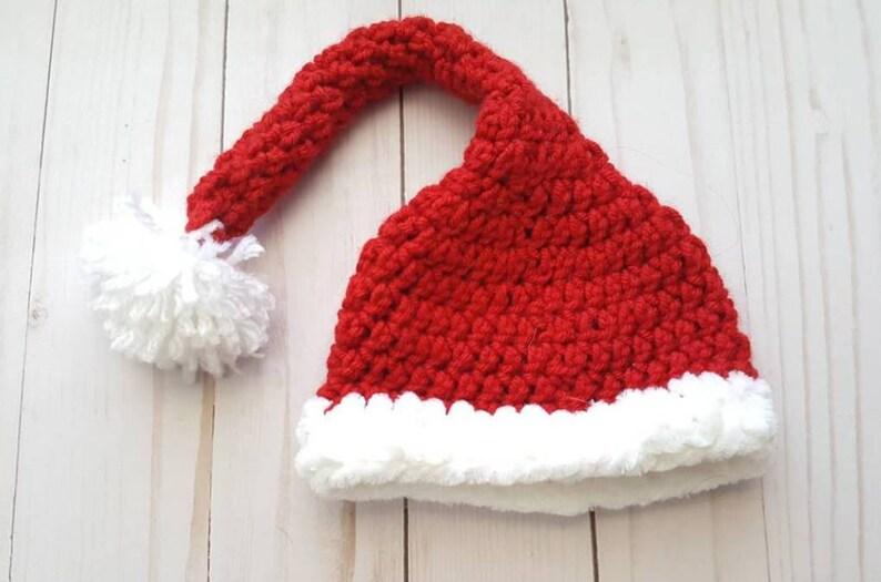 85df35e1ca761 Babys First Christmas Hat Baby Santa Hat Newborn Photo Prop