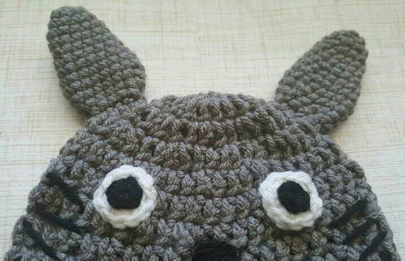 Totoro Baby Hat Crochet Totoro Beanie Totoro Knit Baby Etsy