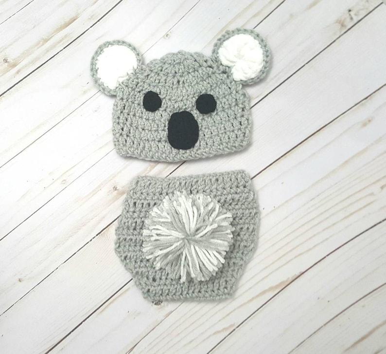 Newborn Photo Prop Koala Bear Outfit Costume Baby Girl Baby Shower Gift Cake Smash Coming Home Koala Nursery Hello World Baby Boy