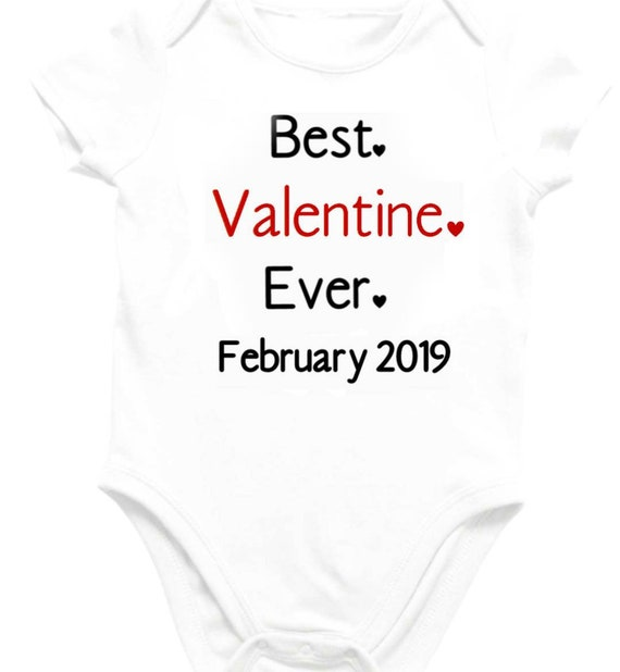 696b3785daf6 Valentine Baby Shirt Bodysuit Outfit First Valentines Day