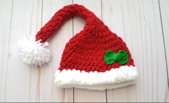 Christmas Baby Hat Baby Girl Santa Hat Newborn Photo Shoot  9d76d5edb9f