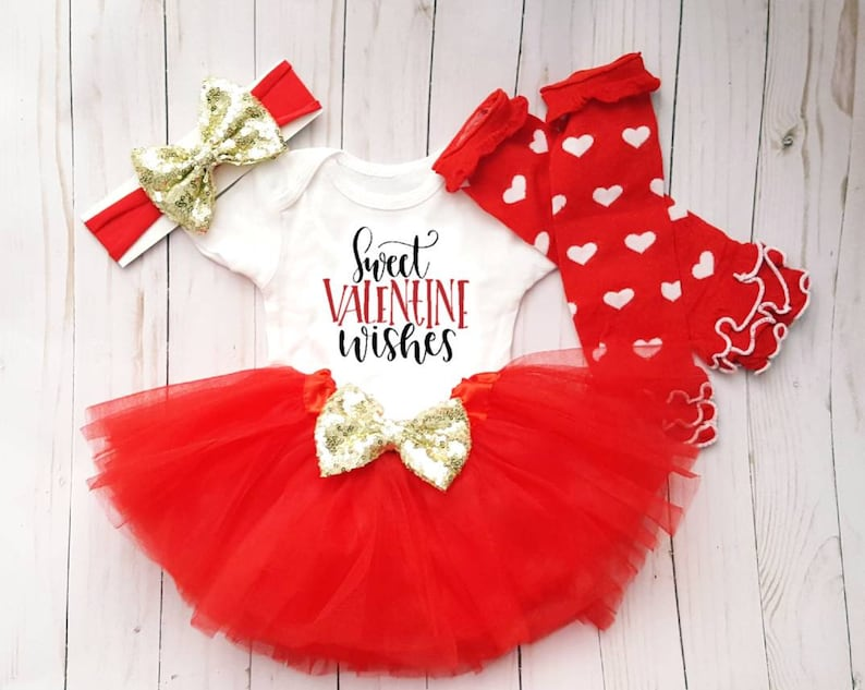 c61776ade Valentine s Day 2019 Outfit For Baby Girl First