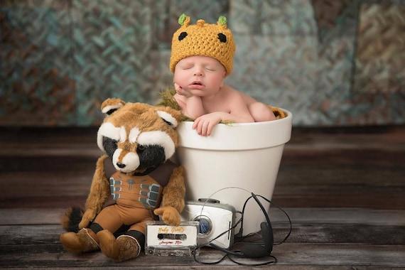 Baby Groot Halloween Kostüm Häkeln Neugeborenen Outfit
