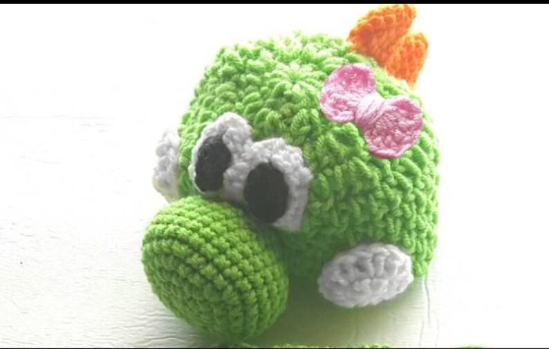 Baby Girl Yoshi Hat Child Yoshi Hat Crochet Newborn Hat  1d2e9199adc