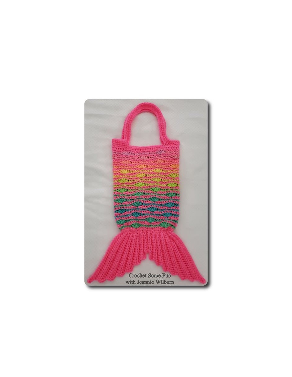 Mermaid Tail Beach Bag Crochet Pattern Makes An Awesome Etsy